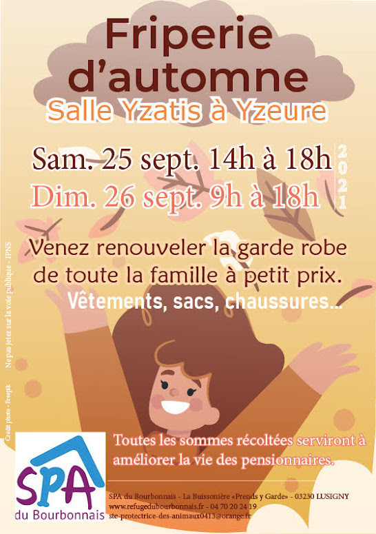 FRIPERIE D'AUTOMNE 2021